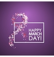 Women day background vector image vector image