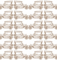 Seamless pattern of old vintage car vector image
