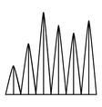 Line graph icon outline style vector image