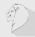 lion head profile icon vector image