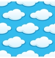 Seamless pattern of white fluffy clouds vector image