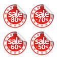 set new year sale stickers vector image