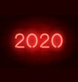 2020 neon signboard red realistic neon vector image vector image