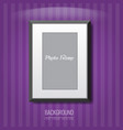 3d empty photo frame on the wall vector image