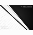 abstract black and white technology corporate vector image vector image