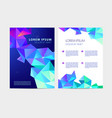 abstract flyer brochure annual report vector image vector image