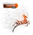 antelope duiker hartebeest deer gazelle dot vector image vector image