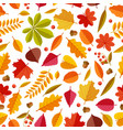 autumn leaves pattern abstract repeating fall vector image