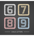 Chalk numbers set vector image vector image