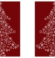 Christmas tree from snowflakes holiday seamless vector image vector image