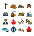 coal mining industry icons vector image