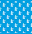electric kettle pattern seamless blue vector image vector image