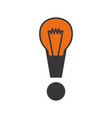 exclamation symbol alert vector image vector image