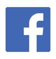 facebook logo icon vector image vector image