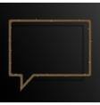 Frame Gold Sequins Speech Bubble Sparkle Stars vector image vector image