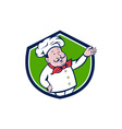 French Chef Welcome Greeting Crest Cartoon vector image vector image