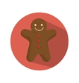 ginger bread christmas card vector image
