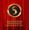 golden alphabet with show lamps isolated vector image vector image