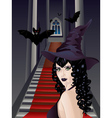 Gothic Stairs and Witch2 vector image vector image