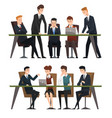 group business people working in office men vector image vector image
