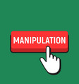 hand mouse cursor clicks the manipulation button vector image