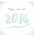 Happy New Year 2016Colorful greeting card vector image