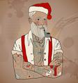 hipster santa claus vector image vector image