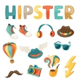 Hipster style elements and objects set vector image