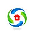 home house protection tool logo vector image vector image