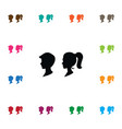 isolated man icon female element can be vector image vector image