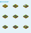 isometric way set of repairs unfinished single vector image vector image
