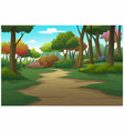 landscape forest daytime so beautiful vector image vector image