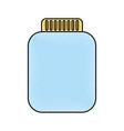 mason jar bottle icon vector image vector image