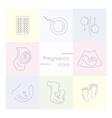 Medicine and pregnancy line icon vector image vector image