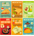 Mexican Food Menu Mini Posters vector image