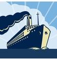 Ocean liner passenger boat ship vector image vector image