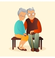 Old couple Grandfather and vector image