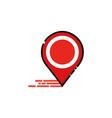 pin navigator mbe style logo vector image vector image