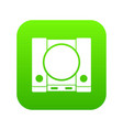 playstation icon digital green vector image vector image