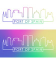 port of spain skyline colorful linear style vector image vector image