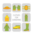 protective clothing for work in garden on the vector image