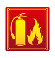 red color signal silhouette fire flame and vector image vector image
