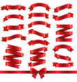 red ribbons isolated white background vector image vector image