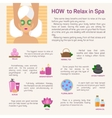 relax in spa flat modern design vector image vector image