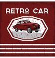 retro car old vintage grunge poster vector image