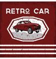 retro car old vintage grunge poster vector image