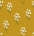 rustic seamless pattern with flowers vector image vector image