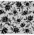 seamless pattern of black lace vector image