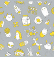 seamless pattern with patch doodles vector image