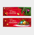 set for merry christmas and happy vector image vector image